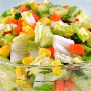 Low Calories Vegetable Salad «Color» Recipe