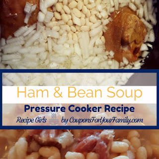 Pressure Cooker Ham and Bean Soup.