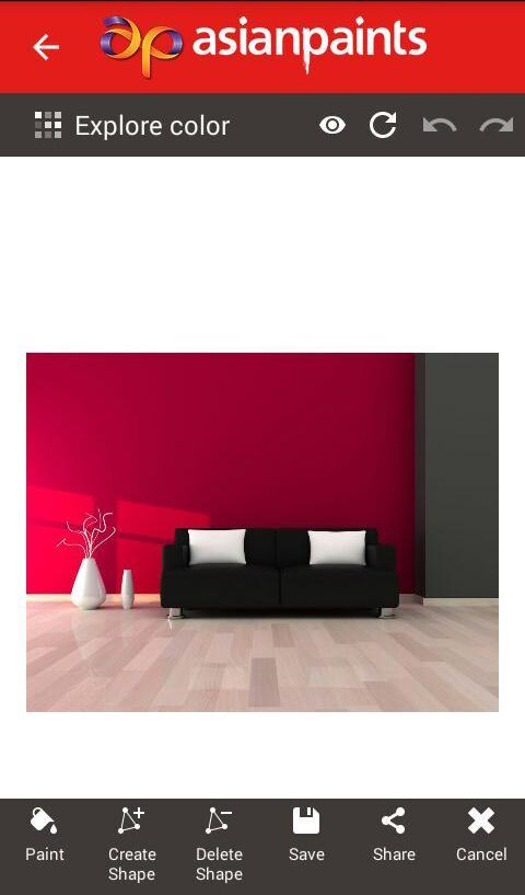 Asian Paints Color Visualizer Screenshot