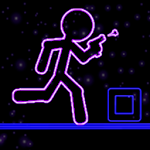 Glow Stick-Man Run: Neon Laser Icon