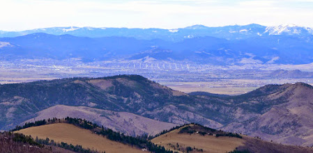 Photo: Helena as viewed from Sacajawea Mountain - about 20 miles away