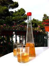 Photo: Enjoying fig brandy in Rovinj!