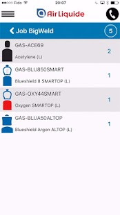 Air Liquide mobile application- screenshot thumbnail