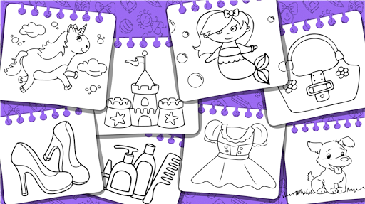 Princess Coloring Book & Games modavailable screenshots 24