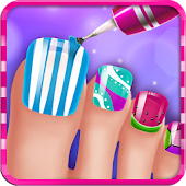 Toe Nail Salon Makeover - Kids