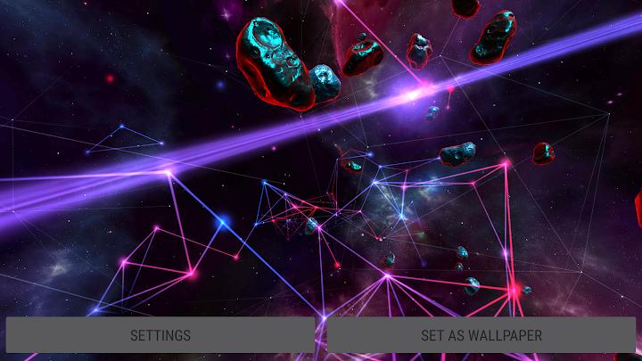 Particle Plexus Sci Fi 3D Live Wallpaper Android App Screenshot