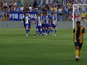 Photo: Gol del Espanyol, y Ritxi Mercader a la izquierda.
