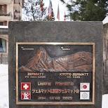 Zermatt and Kyoto friends in Zermatt, Valais, Switzerland