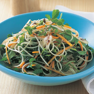 Angel Hair Pasta With Watercress And Carrot