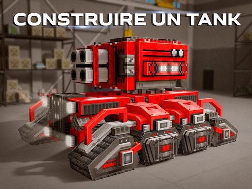 Blocky Cars - jeux de tank, tank wars astuce APK MOD capture d'écran 1