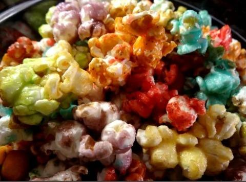 Rainbow Popcorn (fruit Flavored Popcorn Treat) Recipe