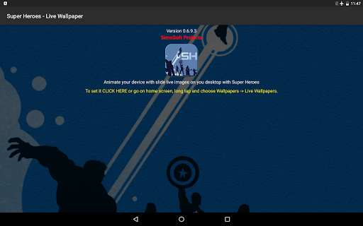 Super Heroes - Live Wallpaper 0.8.0 screenshots 6