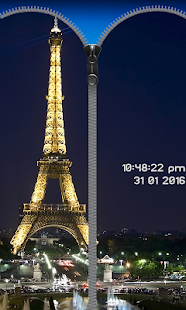 Paris Zipper Phone Lock screenshot