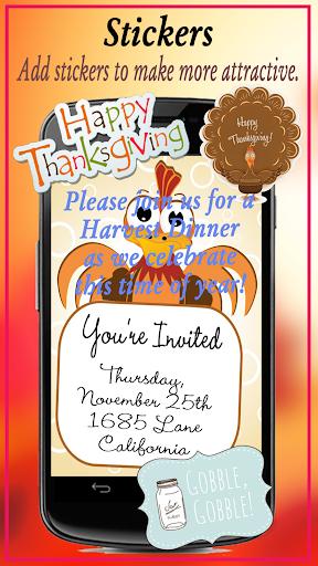 玩免費遊戲APP|下載Thanksgiving Invitation app不用錢|硬是要APP