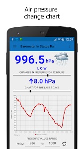 Barometer In Status Bar v2.5.0