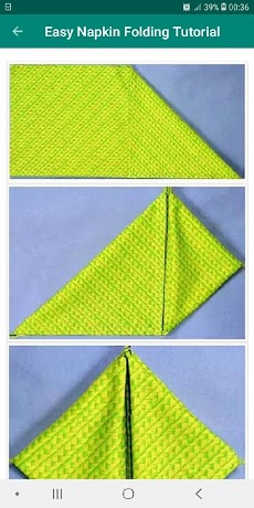 Table Napkin Folding Tutorial Offline Easy Stepのおすすめ画像4
