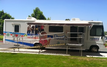 Photo: Platforms are also portable - as used in this mobile medical clinic.