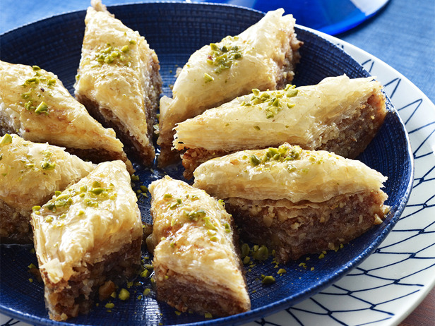 Photo: Michael Symon's Baklava: Michael has been watching his mom make baklava since he was 4. We can't imagine that you'll have leftovers of this delightfully sticky treat, but if you do, you can freeze it (once the syrup is absorbed) for up to a month, then just thaw it at room temperature. Get this recipe >> http://ow.ly/a67rl