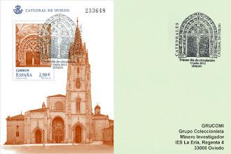 Photo: Matasellos Primer Día de Circulación de la Hoja Bloque de la Catedral de Oviedo