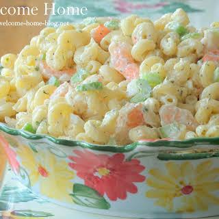 ♥ Shrimp Macaroni Salad.
