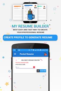 Pocket Resume Builder App Professional Cv Maker V1 0 7 Pro