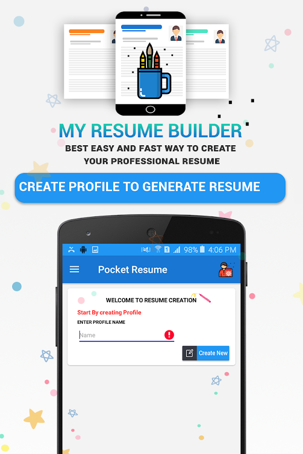 pocket resume builder app professional cv maker screenshot - Resume Maker Professional
