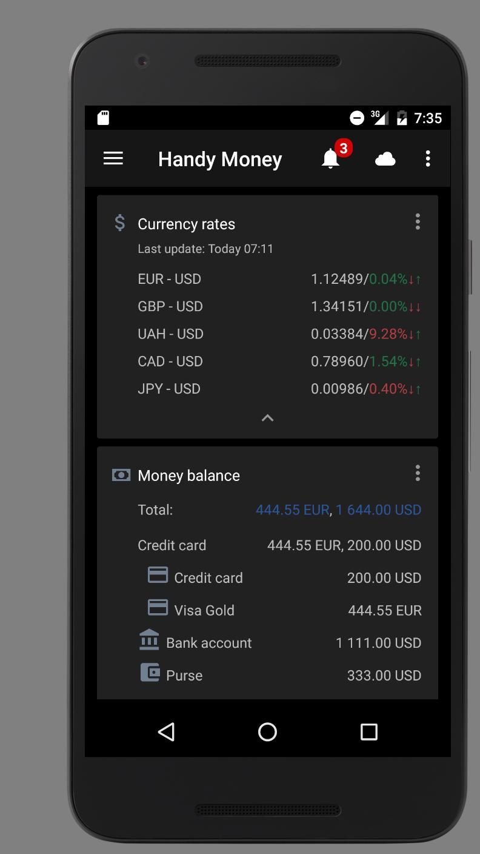 Handy Money - Expense Manager Screenshot 1