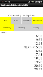 Bus and train my timetable - náhled