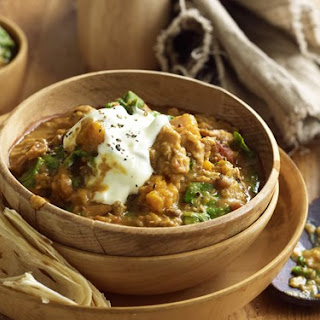 Chicken, Lentil And Pumpkin Curry.