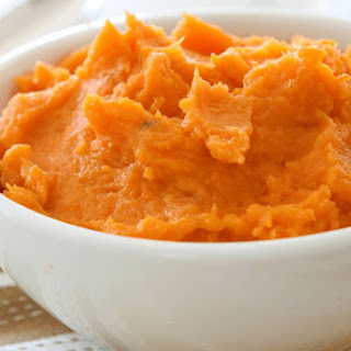 Maple-Mashed Sweet Potatoes.