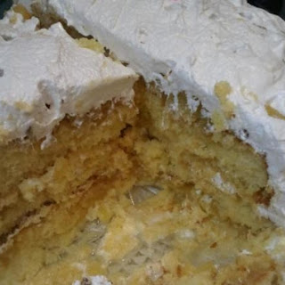 Bea's Pineapple Cake w/Seven Minute Icing