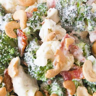 Broccoli Ranch Cashew Salad.