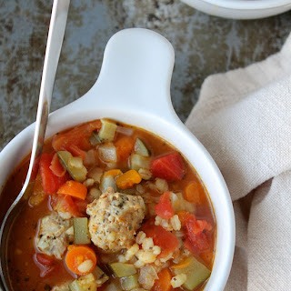 Chicken Meatball & Barley Soup