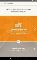 Screenshot of HomeAdvisor Mobile