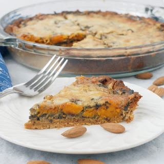 Butternut Squash Spinach Pie with an Almond Crust.