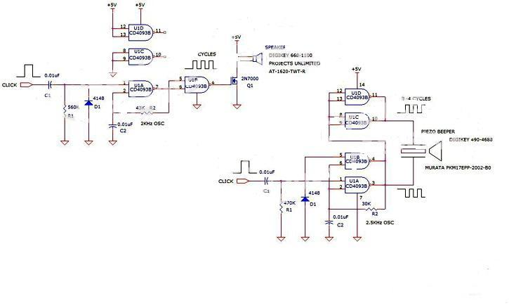 Click Sound Generator Piezo Circuit