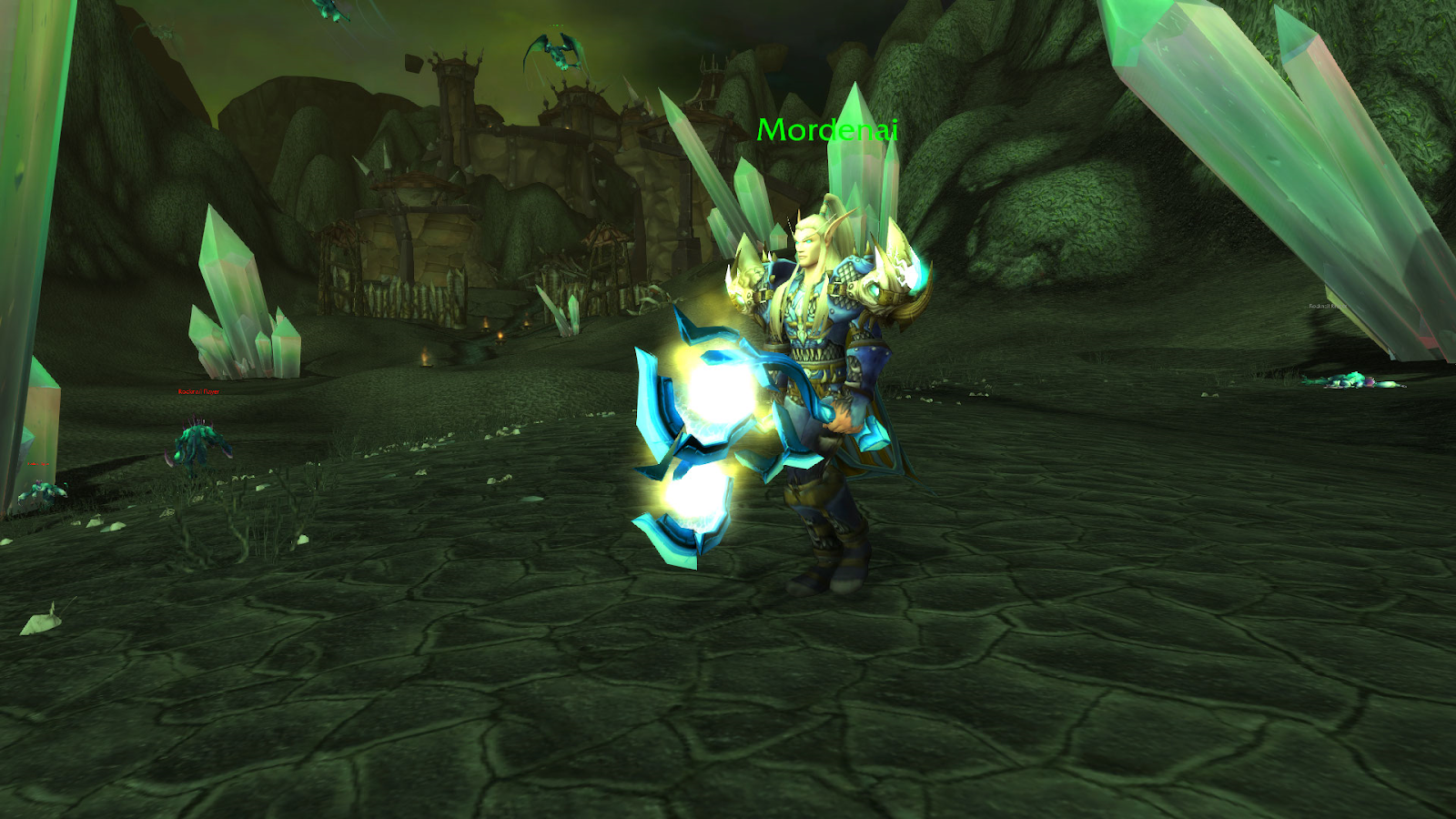Mordenai patrolling around, he starts the quest chain with Netherwing