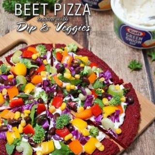 Gluten Free Beet Crust Pizza
