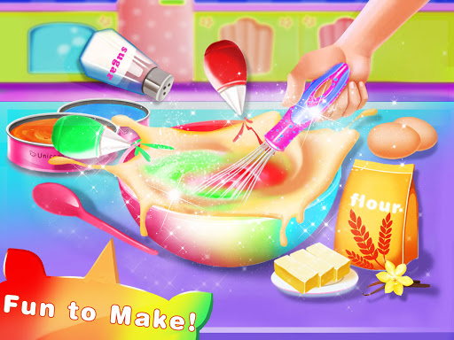 Cooking Unicorn Rainbow Cake- Food Game for girl 1.7 Screenshots 3