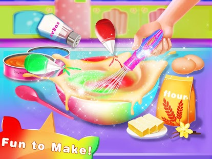 Cooking Unicorn Rainbow Cake- Food Game for girl Screenshot