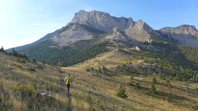 Photo: Walking the ridge to the north summit of Sawtooth Ridge (20 miles west of Augusta).