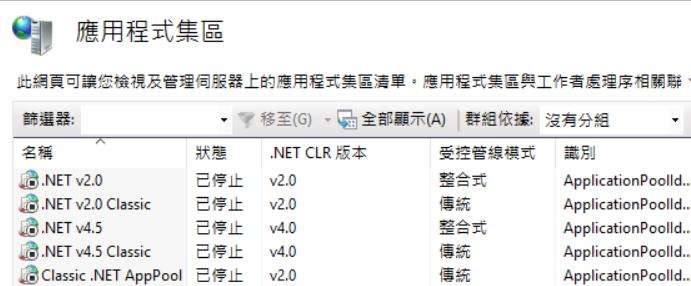 IIS 應用程式集區