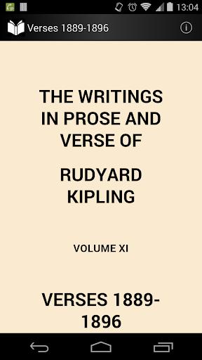 Verses of Rudyard Kipling