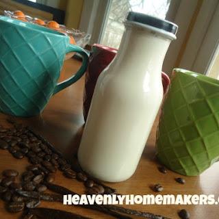 The Easiest Vanilla Coffee Creamer.