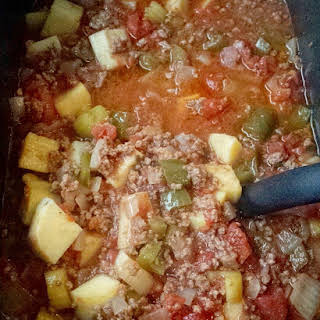 Slow Cooker Hamburger Stew.