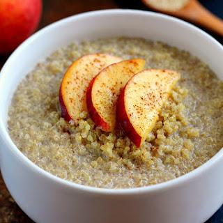 Peach Almond Breakfast Quinoa Recipe
