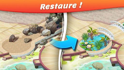 Télécharger Gratuit Tropical Forest: Histoire de Match 3 APK MOD (Astuce) screenshots 1