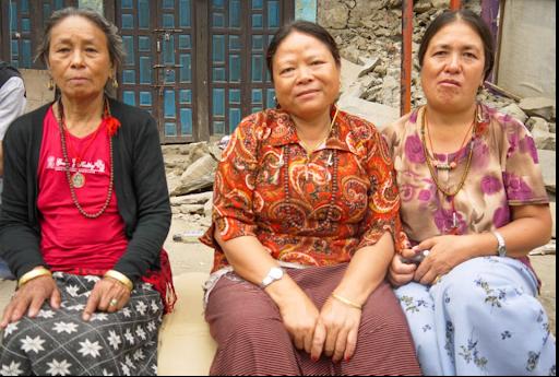 Portrait de femmes - Népal - Séisme