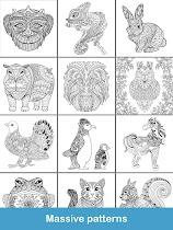 Coloring pages:Animals Mandala - screenshot thumbnail 15