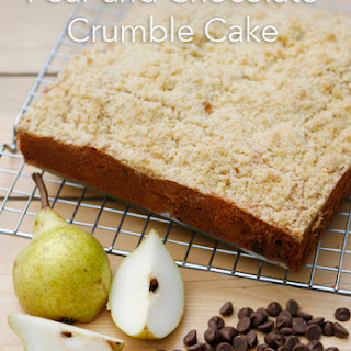 Pear and Chocolate Crumble Cake